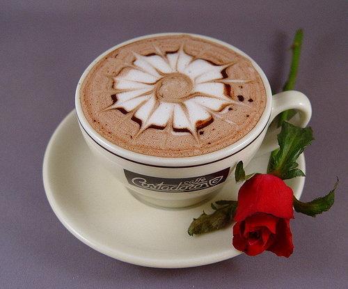 рози и кафе