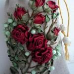 торбичка с рози