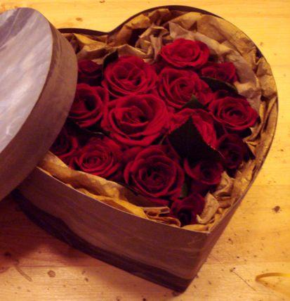 сърце с рози