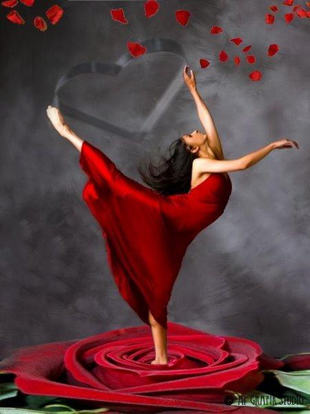 танцуваща в роза
